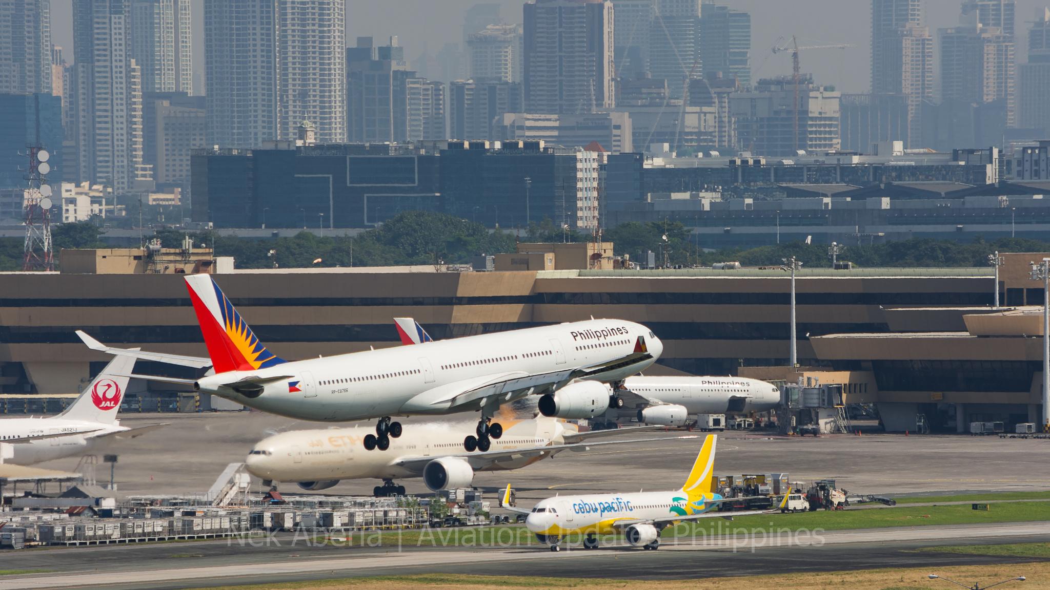PAL A330 landing NAIA