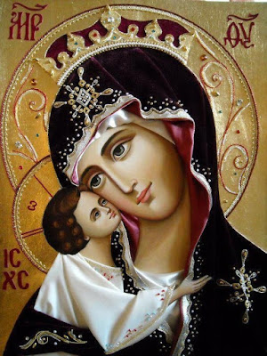Imagem do ícone Mãe da Ternura (ou Mãe de Deus Eleousa)
