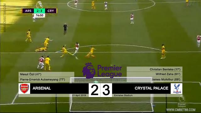 Cuplikan Gol : Arsenal vs Crystal Palace Skor Akhir 2-3