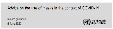Advice on the use of masks in the context of COVID-19