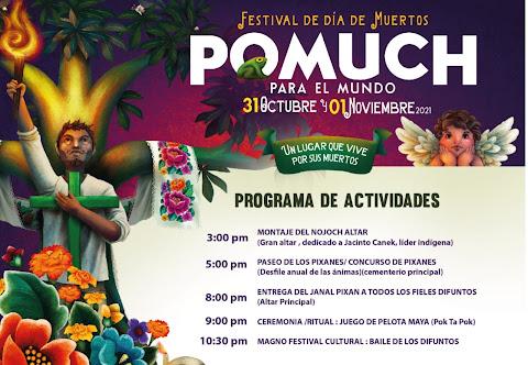 festival de día de muertos pomuch 2021