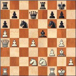 Partida de ajedrez Seresols - Ribera 1936, posición después de 21.cxd4