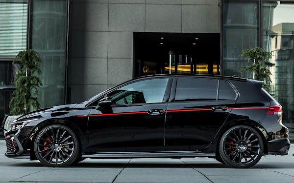 Golf GTI Mk8 preto rebaixado 4cm; rodas 19 e 290 cv - fotos e detalhes