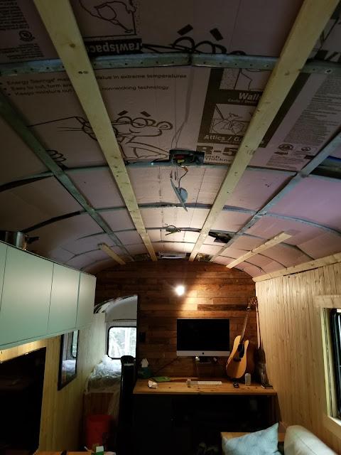 Installation du plafond