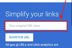 Goo.gl Google URL Shortener Cara Memperpendek URL Agar Lebih Singkat
