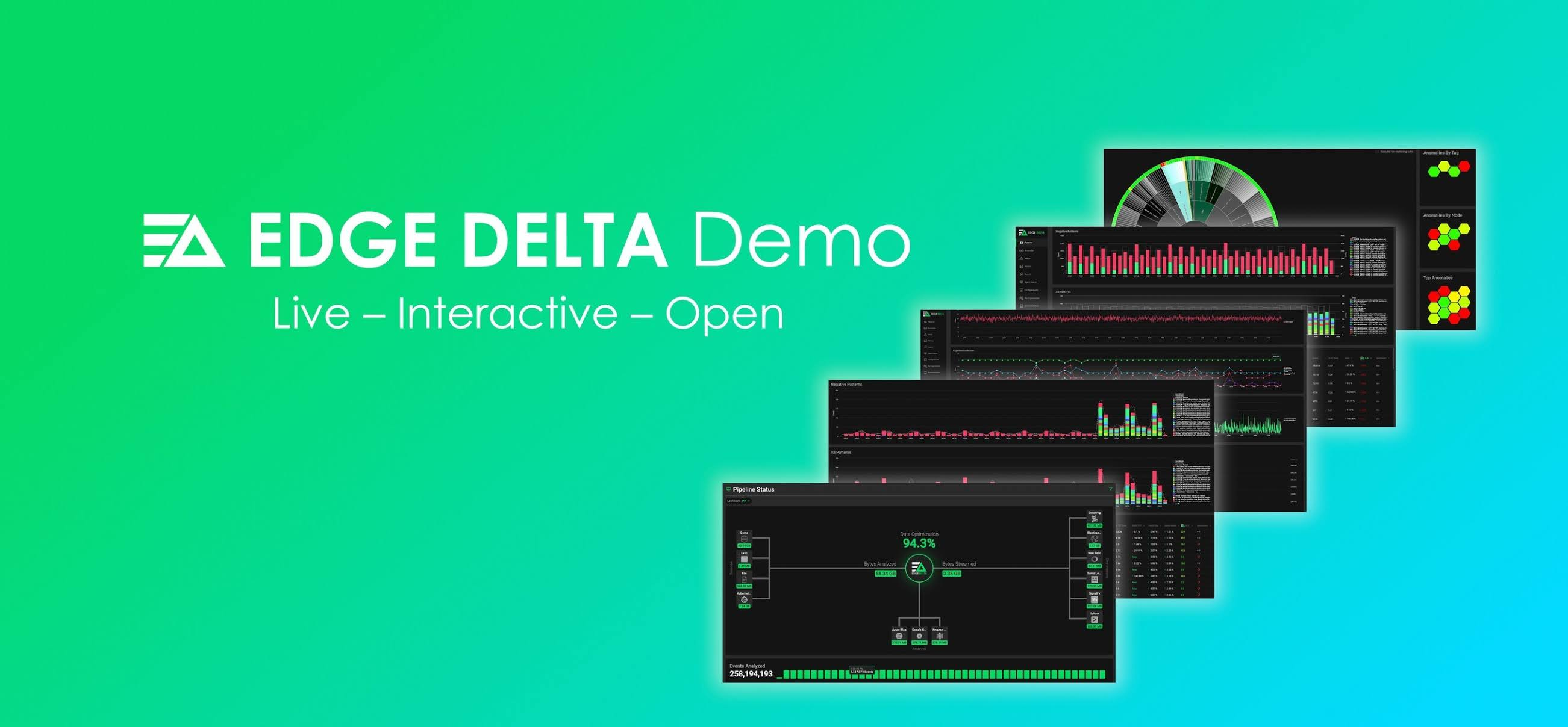 Edge Delta Announces Live, Interactive, Open Environment for Free and Unlimited Exploration