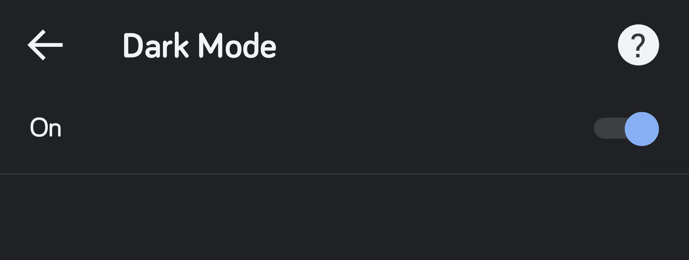 Chrome - Dark Mode