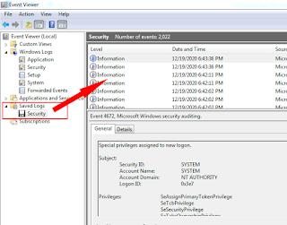 Restore Log File Windows