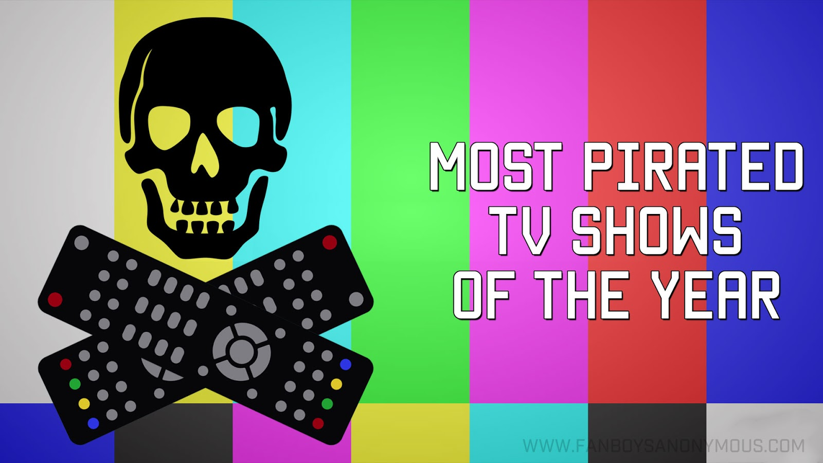 most pirated torrents TV programs 2016