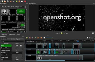 برنامج OpenShot Video