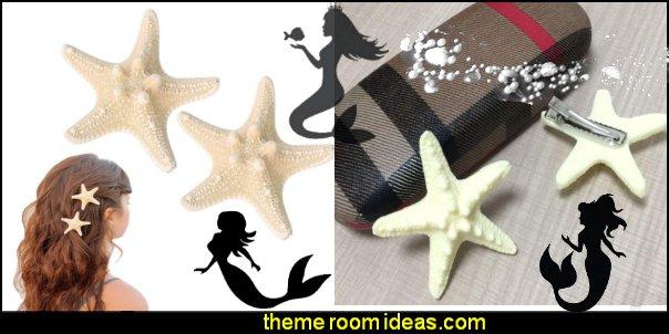 Starfish Hair Clip Star Hair Pins  Beach Hairpin Mermaid Accessories
