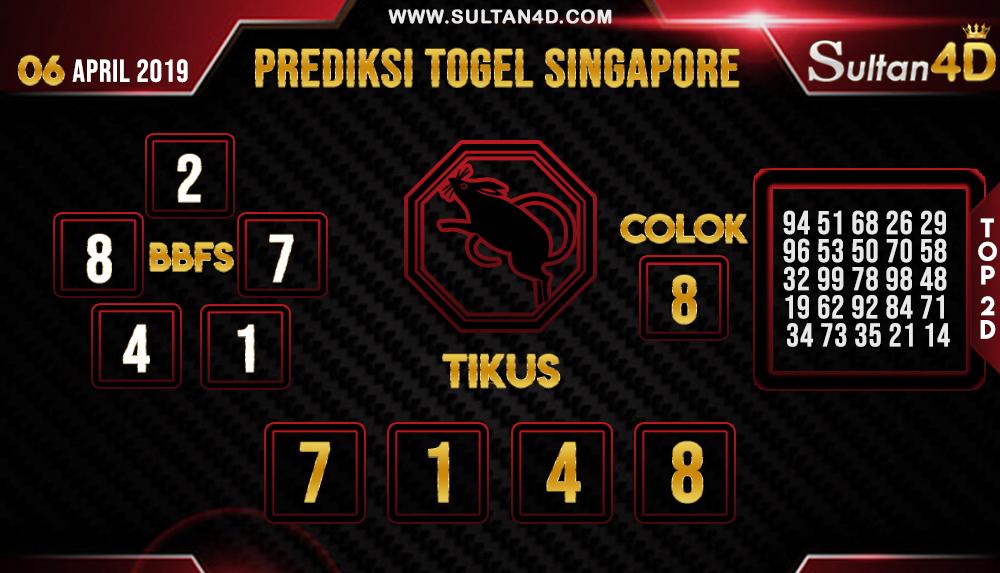 PREDIKSI TOGEL SINGAPORE SULTAN4D 06 APRIL 2019
