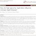 Como as dietas de alta carga glicêmica influenciam as doenças coronárias?