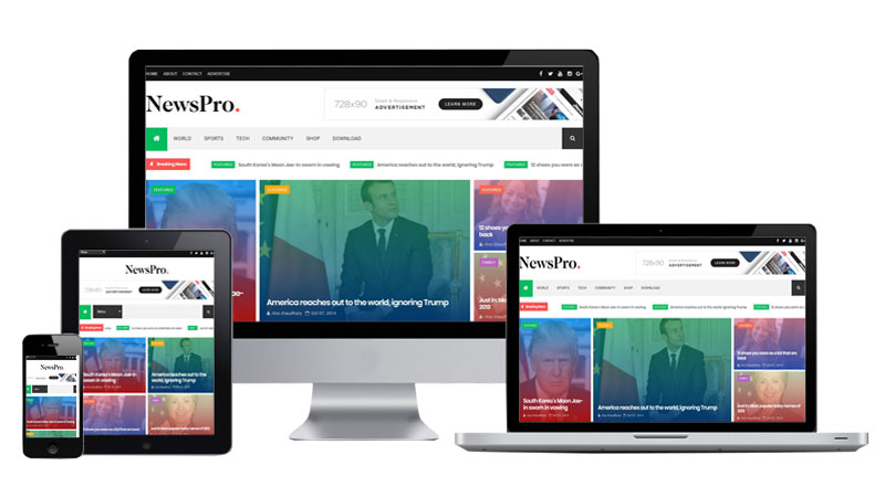 Newspro Blogger Template Free Version