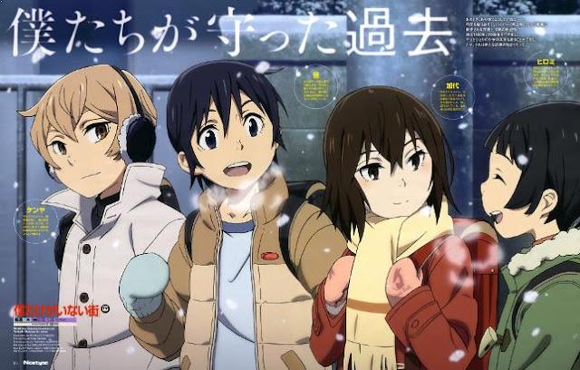 Boku Dake ga Inai Machi - Daftar Anime Mirip Charlotte