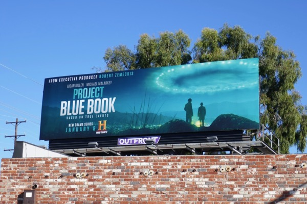 Project Blue Book series launch billboard