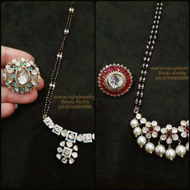 Black Beads Sets by Vajra Jewellery