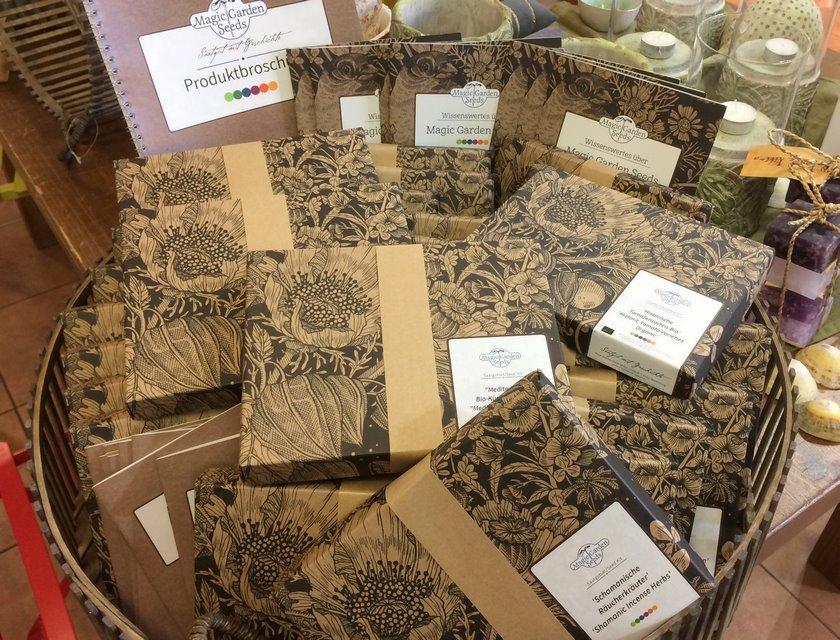 Cajas de regalo con semillas orgánicas certificadas y probadas, para sembrar flores comestibles, hierbas culinarias, hortalizas y otras plantas útiles
