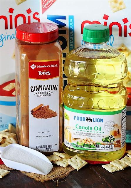 Super Easy Cinnamon Sugar Crackers Ingredients Image