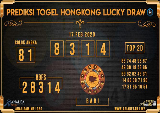 Prediksi Togel Hongkong 17 Februari 2020 - Analisa Mimpi