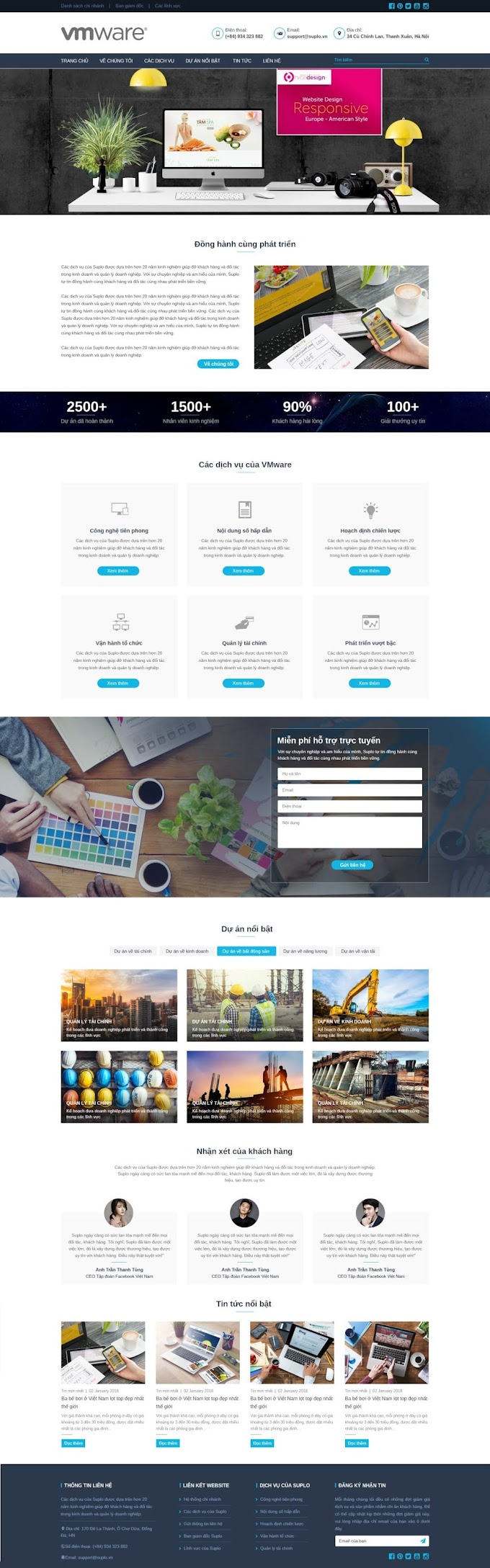Mẫu website dịch vụ hot 2020