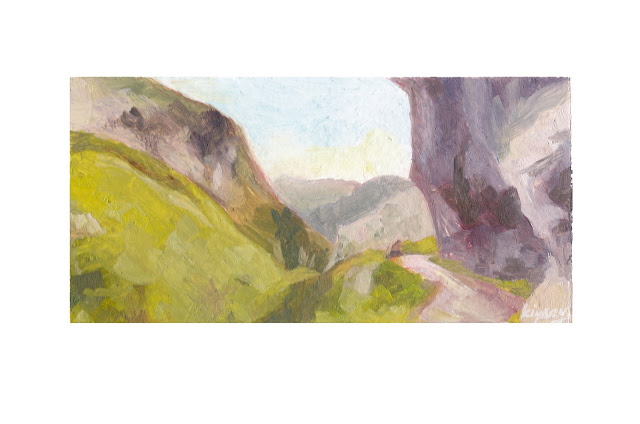 Ruta de las Lanas Hiking Trail Asturias Spain Oil Painting fine arts kiyary