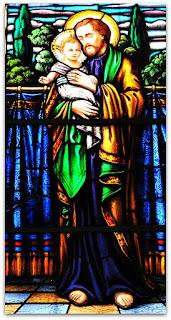 Vitral São José - Igreja Sagrado Coração de Jesus, Restinga Seca