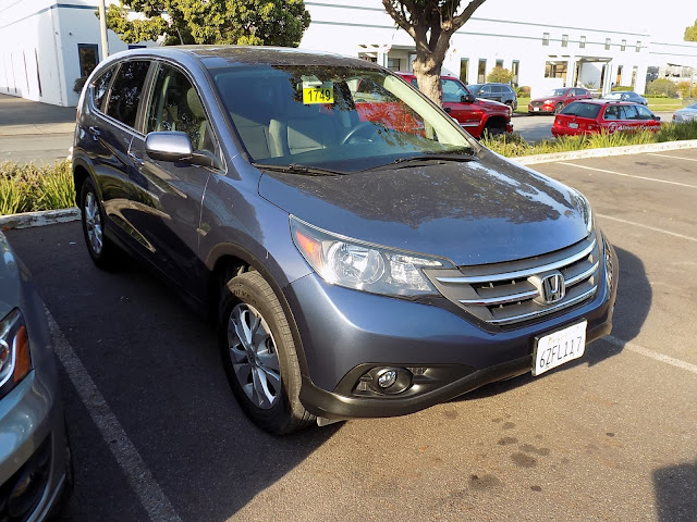 Bumper repairs on 2013 Honda CR-V at Almost Everything Auto Body.