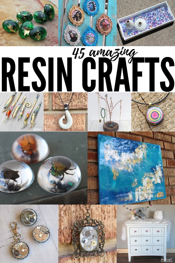 Resin Craft ideas: 45 cool things to make with resin. Create high gloss resin art, sculpture, pendants and jewelry, resin pours and other creative resin crafts.
