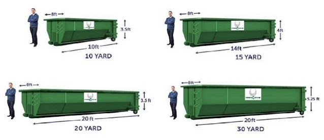 different dumpster sizes junk removal yard