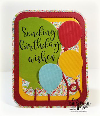 Our Daily Bread Designs Stamp Set: Big Birthday Bolds, Custom Dies: Big Balloon, Birthday Balloons, Double Stitched Rounded Rectangles, Rounded Rectangles, Paper Collections: Birthday Bash, Birthday Brights