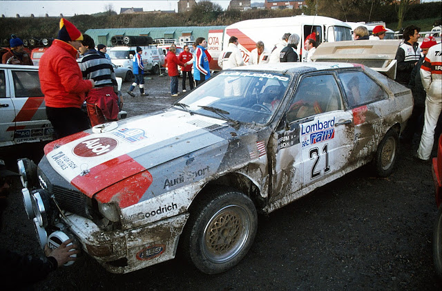 Audi Quattro Group B Rally Car Crashed on Lombard RAC Rally