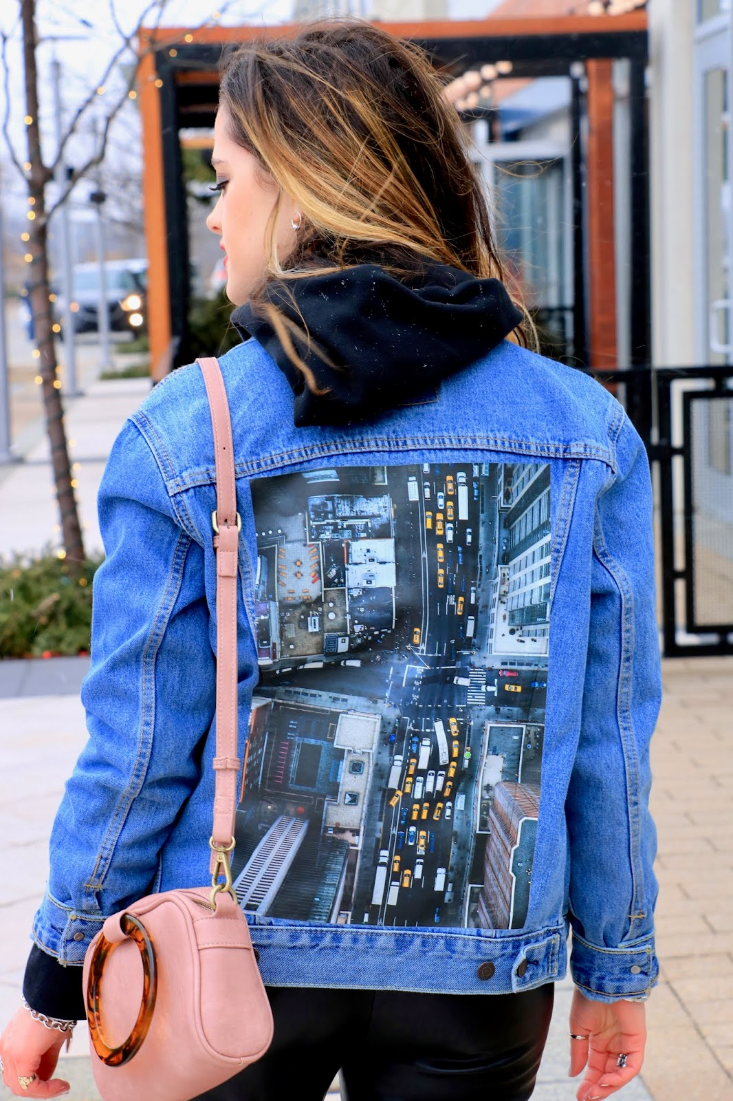 Nyc fashion blogger Kathleen Harper's customized Levi's denim jacket