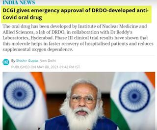 drdo developed anti covid drugs 2dg for emergency use