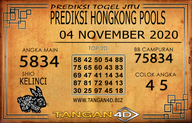 PREDIKSI TOGEL HONGKONG TANGAN4D 04 NOVEMBER 2020