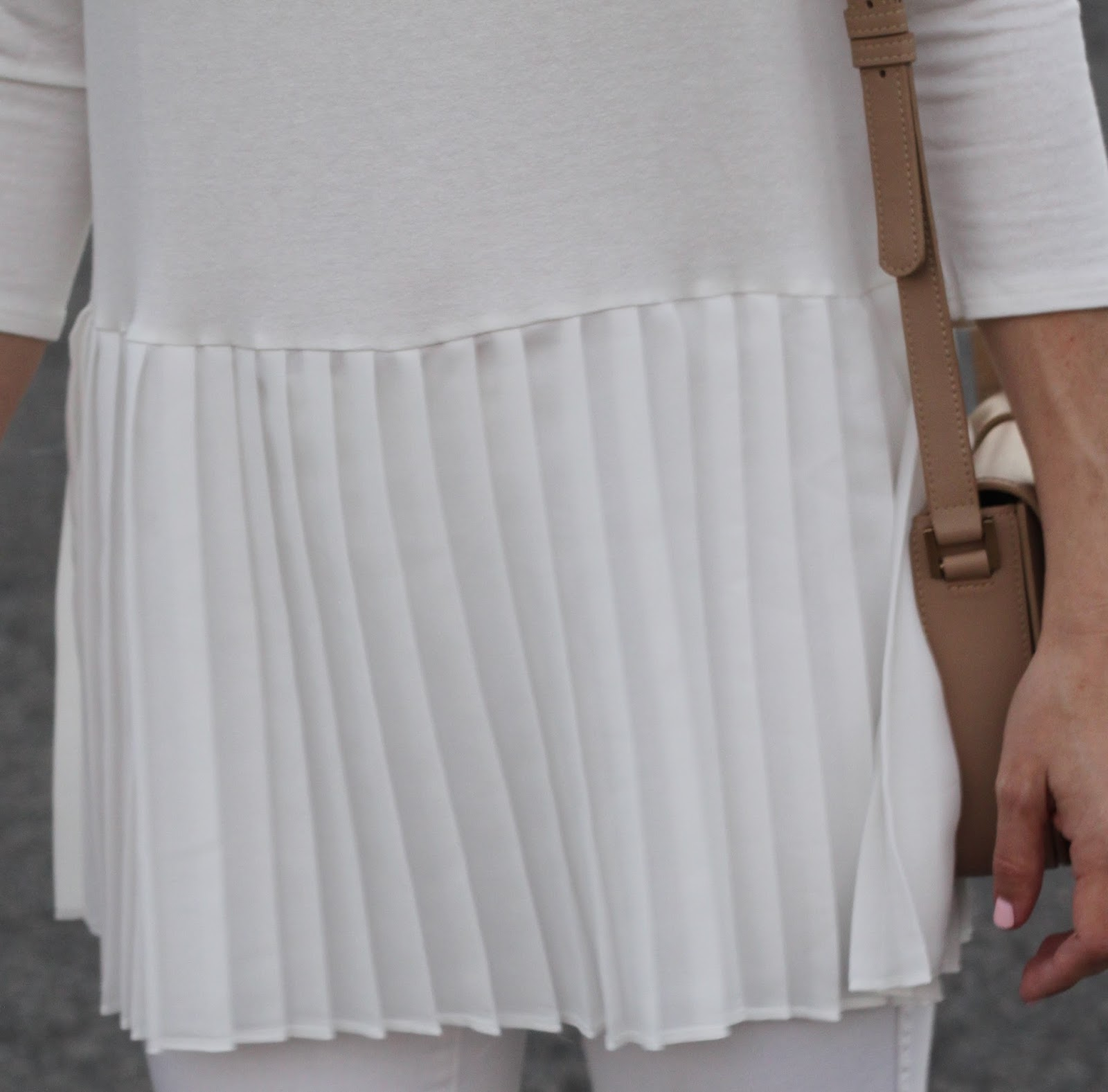 white pleats