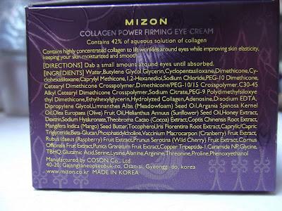 Mizon Intensive Firming Solution Collagen Power spevňujúci očný krém proti vráskam, opuchom a tmavým kruhom zloženie