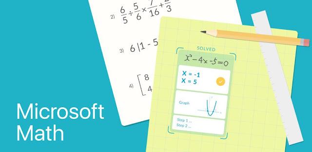 قم بتنزيل Microsoft Math Solver  - تطبيق Microsoft لحل مشاكل الرياضيات لنظام الاندرويد