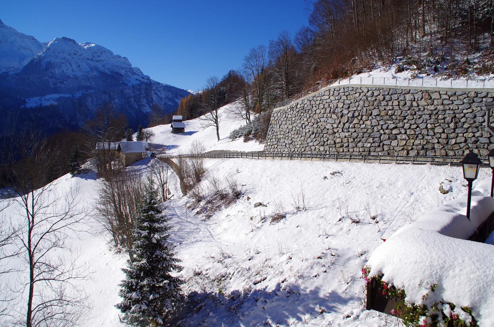 Driving in Switzerland Winter