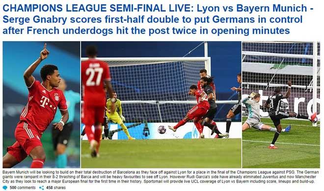 Bayern hạ Lyon vào chung kết Cúp C1: Báo chí vẫn tiếc cho Lewandowski 4