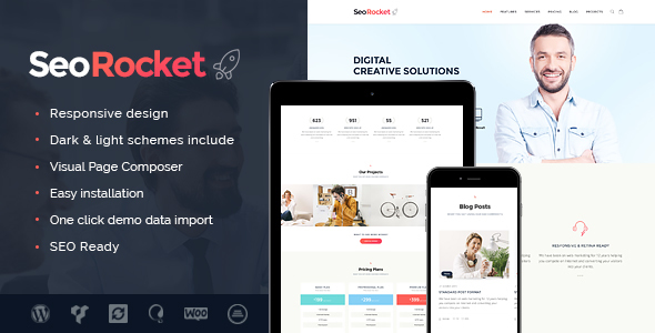 Download Seo Rocket - SEO & Marketing WordPress Theme