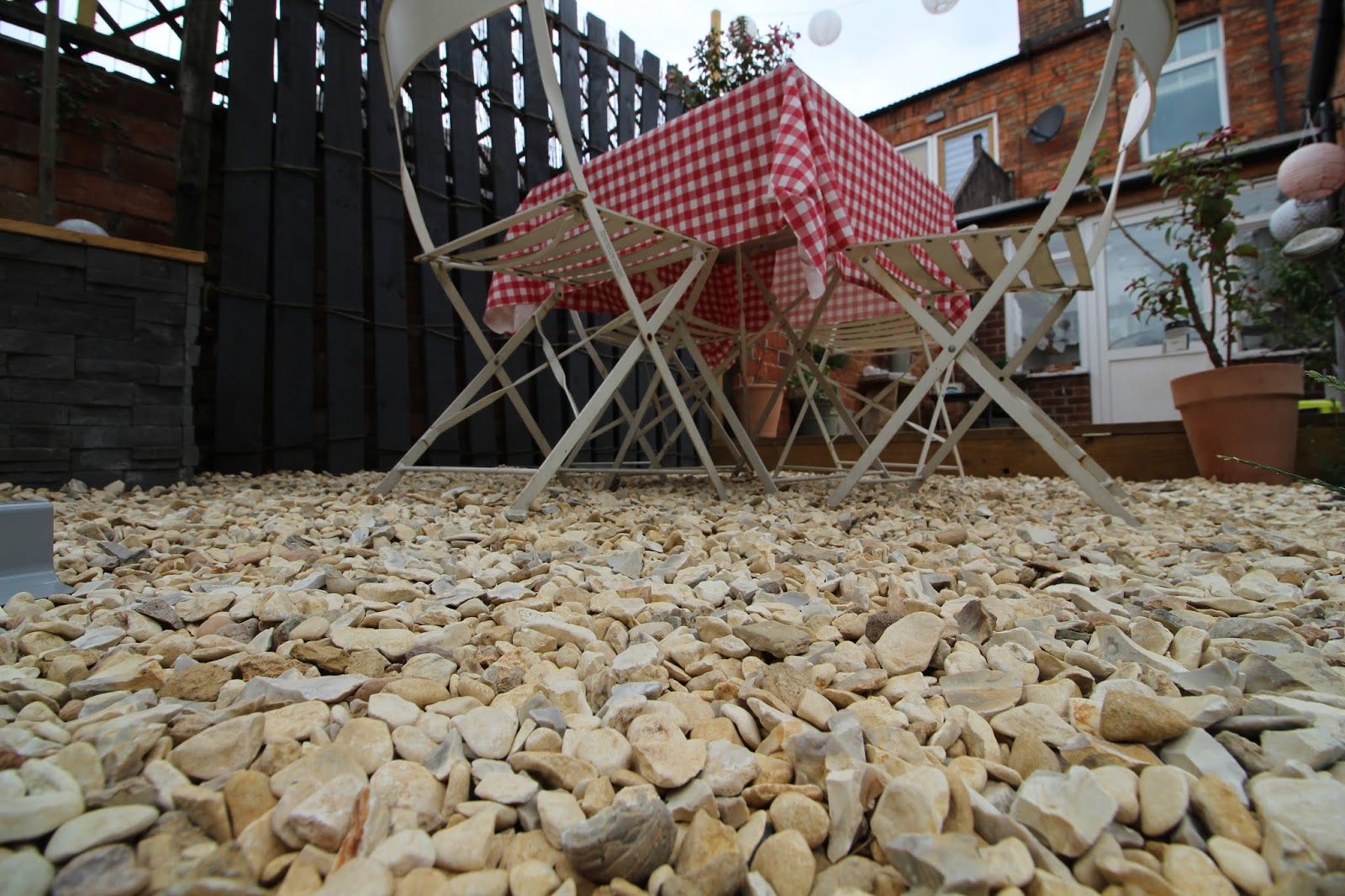 Yorkshire Cream Gravel in Garden