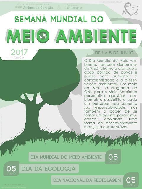 Banner digital sobre a Semana Mundial do Meio Ambiente 2017, Semana Mundial do Meio Ambiente, Dia da Ecologia, Dia Mundial do Meio Ambiente, Dia Nacional da Reciclagem, Junho de 2017, 1 de Junho, 5 de Junho, Conscientizar Meio Ambiente, Designer Gráfico, Aplicativos Gráficos