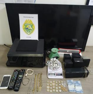 Pitanga: PM prende jovens e recupera objetos furtados