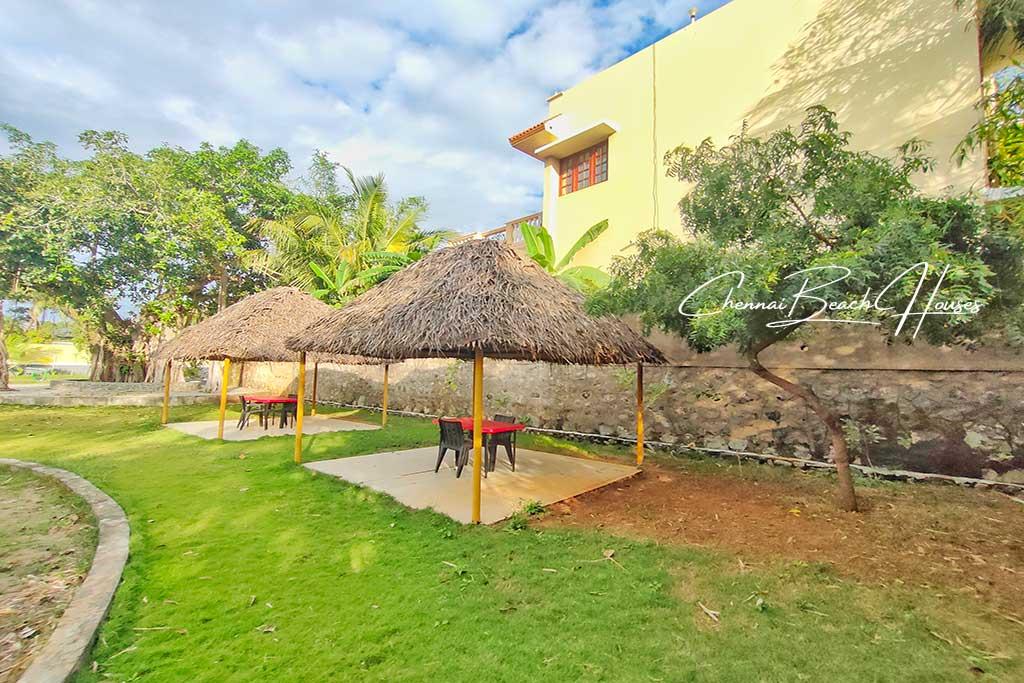 private beach house in mahabalipuram