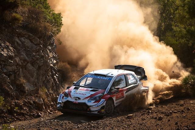 Toyota Yaris Rally Racing car on Rally Turkey
