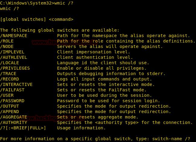 Post Exploitation Using WMIC (System Command)