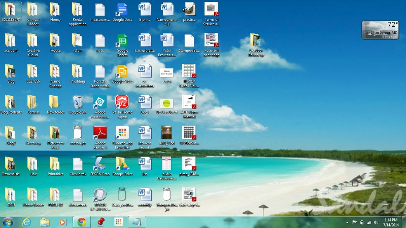 Using PicMonkey to organize your desktop background | Meet the B's