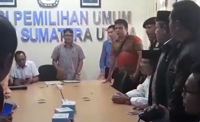 Tak Terima Putusan KPU, Ance dan Pendukung JR Saragih Mengamuk, Lihat Videonya