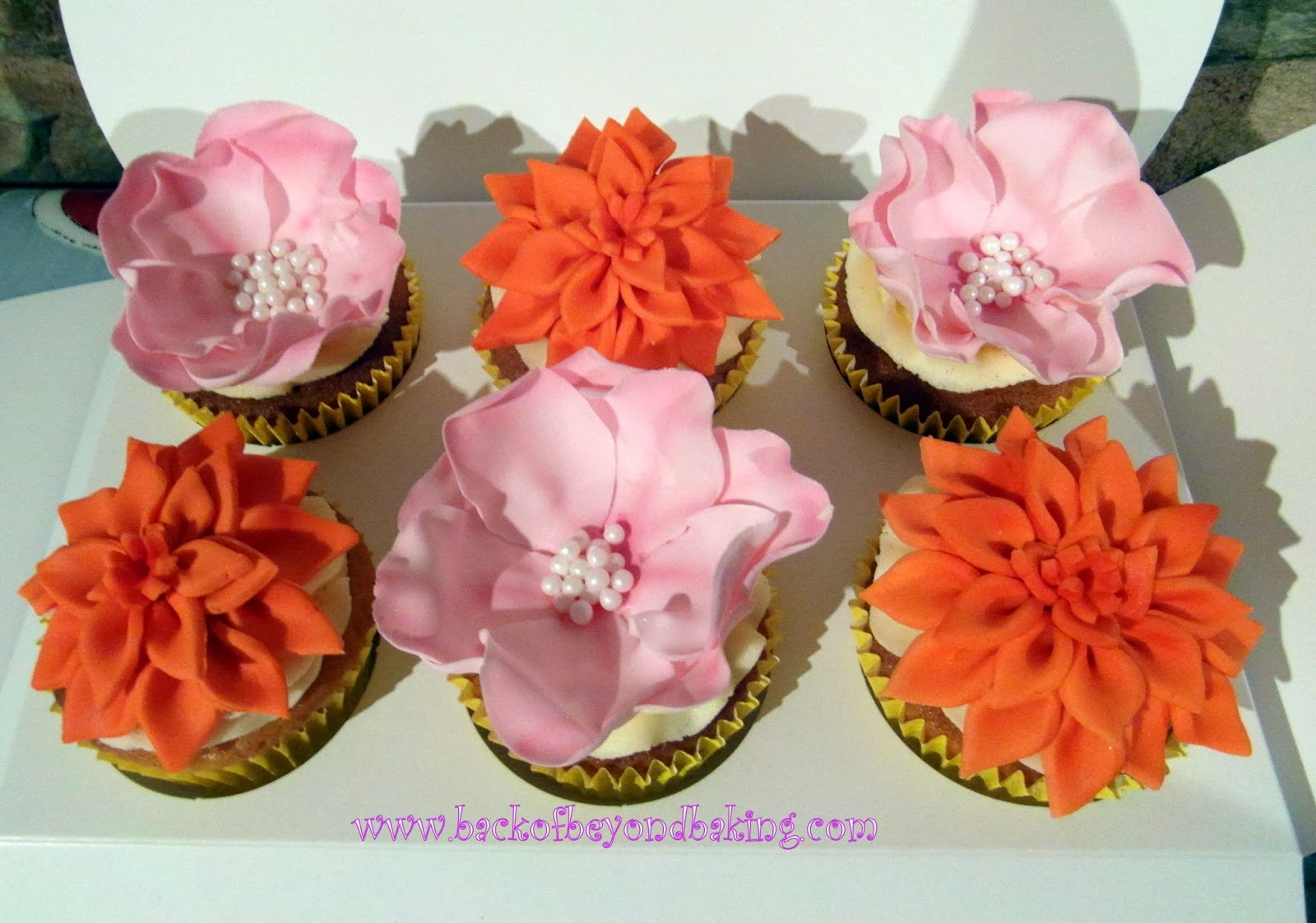 ruffled rose cupcakes